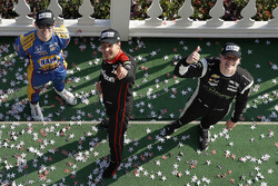 Podium: race winner Will Power, Team Penske Chevrolet, second place Josef Newgarden, Team Penske Chevrolet, third place Alexander Rossi, Curb Herta - Andretti Autosport Honda