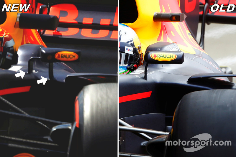 Red Bull Racing RB 13, дзеркала