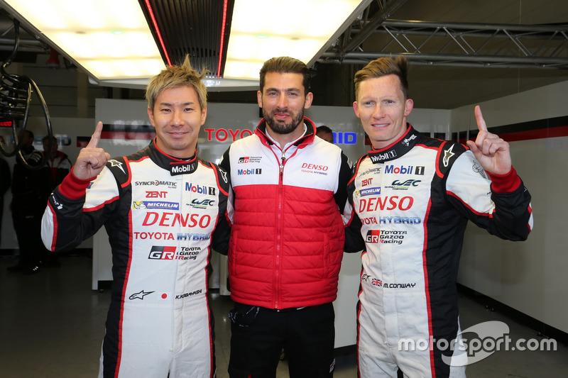 Polesitter #7 Toyota Gazoo Racing Toyota TS050 Hybrid: Mike Conway, Kamui Kobayashi, Jose Maria Lopez