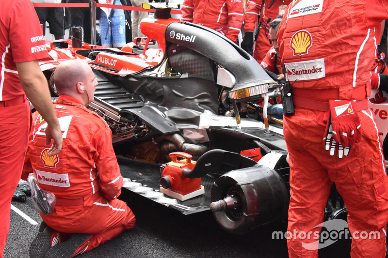Moteur de la Ferrari SF70H de Kimi Räikkönen