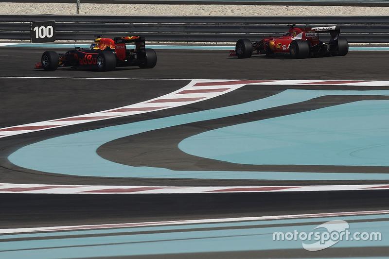 Кімі Райкконен, Ferrari та Даніель Ріккардо, Red Bull Racing, тести нових шин Pirelli 2017 року