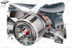 Sauber C32 rear brake duct