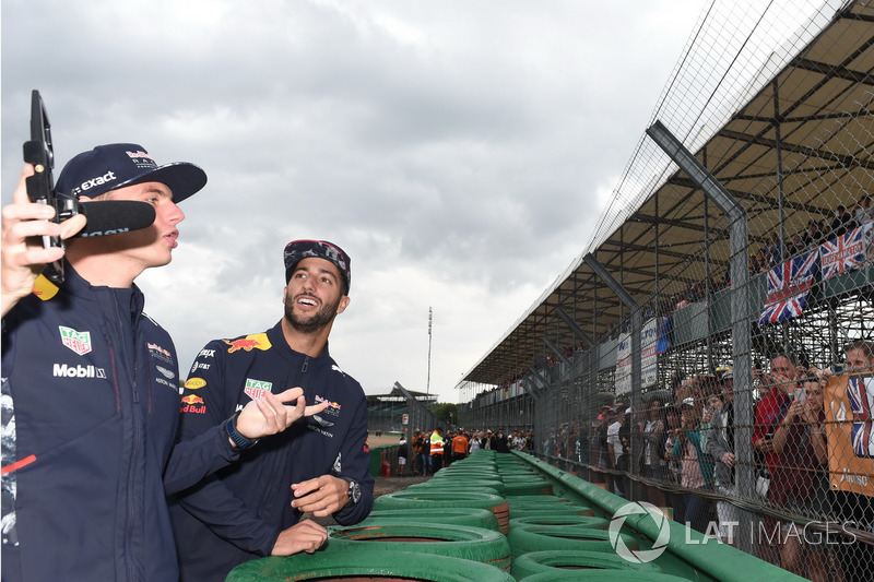 Max Verstappen, Red Bull Racing and Daniel Ricciardo, Red Bull Racing