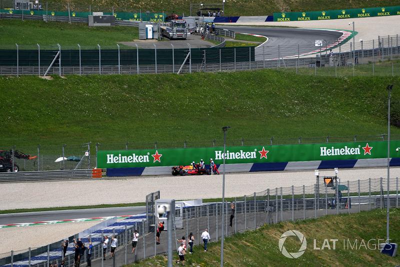 Макс Ферстаппен, Red Bull Racing RB13, сход із гонки