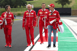 Sebastian Vettel, Ferrari walks the track with Jock Clear, Ferrari Chief Engineer and Riccardo Adami, Ferrari Race Engineer