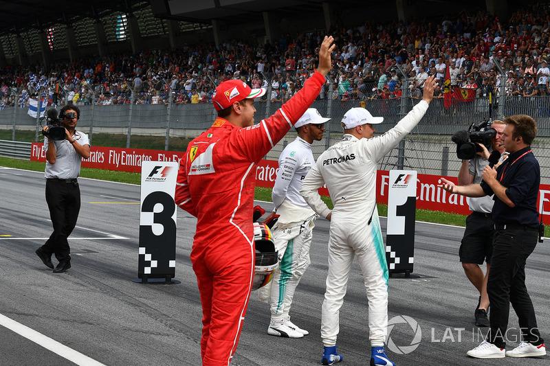 Валттері Боттас, Mercedes AMG F1, Себастьян Феттель, Ferrari, Льюіс Хемілтон, Mercedes AMG F1, Давіде Вальсеккі, Sky Italia