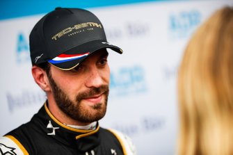 Jean-Eric Vergne, DS TECHEETAH being interviewed by the media
