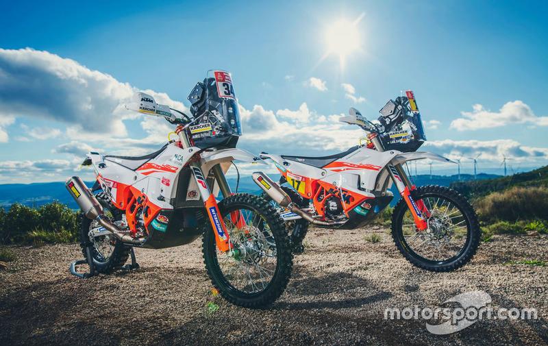 Motos del KTM Racing Team