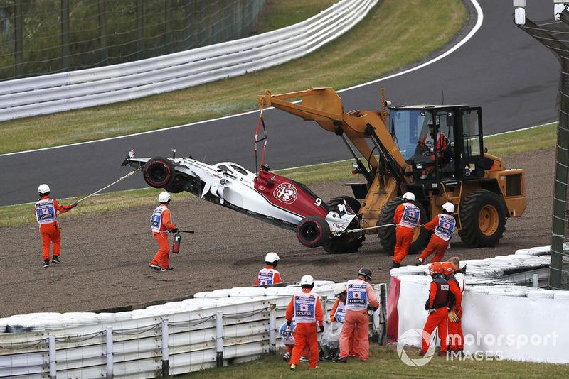 Разбитый автомобиль C37 Маркуса Эрикссона, Alfa Romeo Sauber
