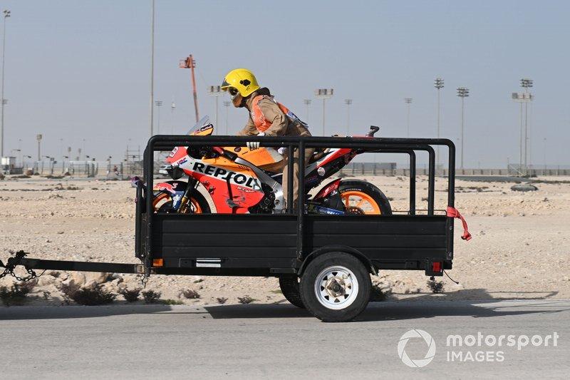 Мотоцикл Хорхе Лоренсо, Repsol Honda Team, після аварії