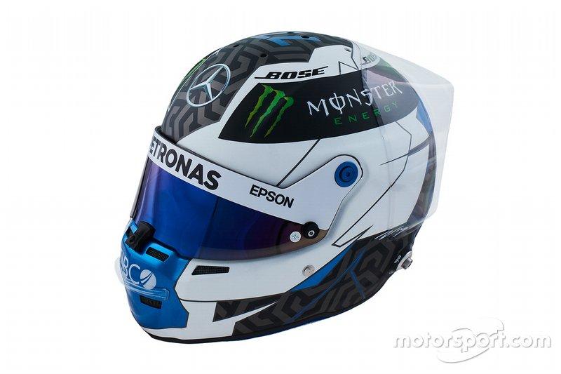 Casco de Valtteri Bottas, Mercedes, para 2019
