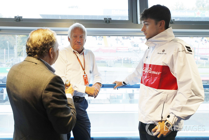 Jean Todt, Presiden FIA, Charlie Whiting, FIA, Charles Leclerc, Sauber F1 Team