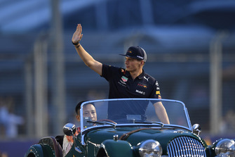 Max Verstappen, Red Bull Racing on drivers parade