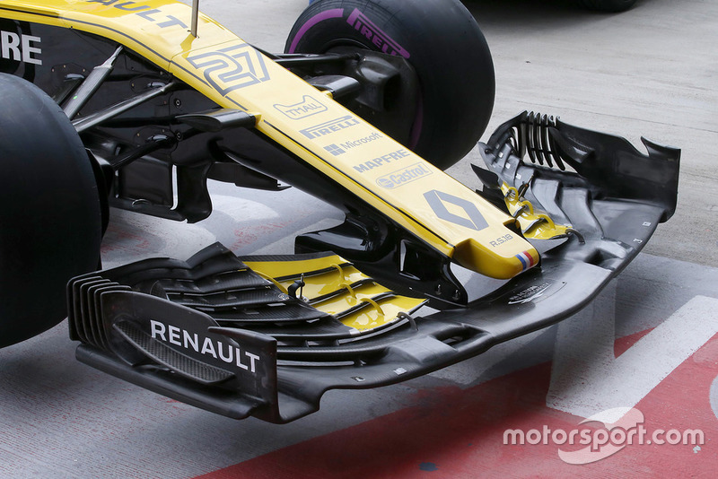 Renault Sport F1 Team R.S. 18 alerón delantero