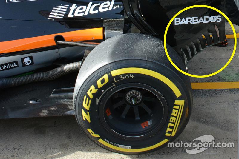 Sahara Force India F1 VJM09, Heckflügel-Detail