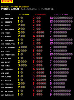Pirelli elegidos por cada piloto