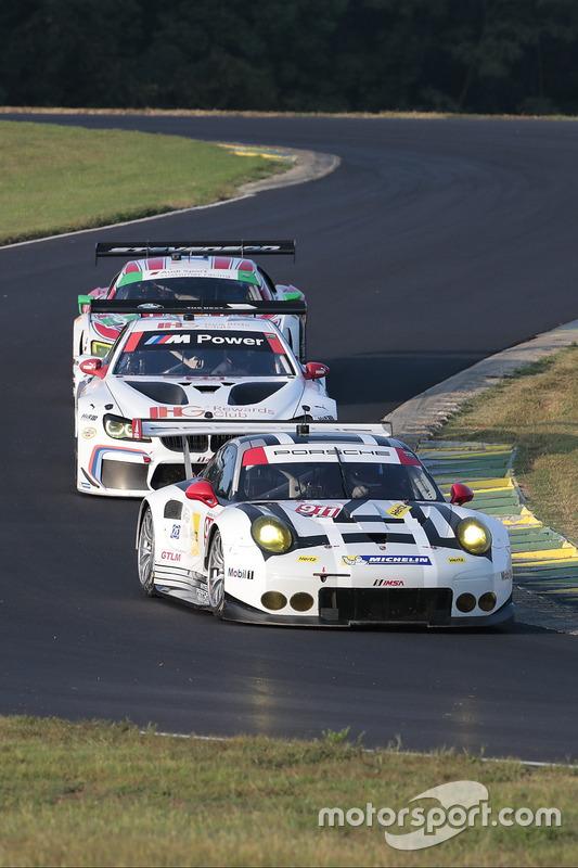 #911 Porsche Team North America Porsche 911 RSR: Nick Tandy, Patrick Pilet, #25 BMW Team RLL BMW M6 GTLM: Bill Auberlen, Dirk Werner, #6 Stevenson Motorsports Audi R8 LMS GT3: Andrew Davis, Robin Liddell