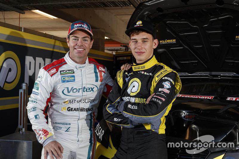 Kurt Kostecki, Team 18; Craig Lowndes, Triple Eight Race Engineering Holden