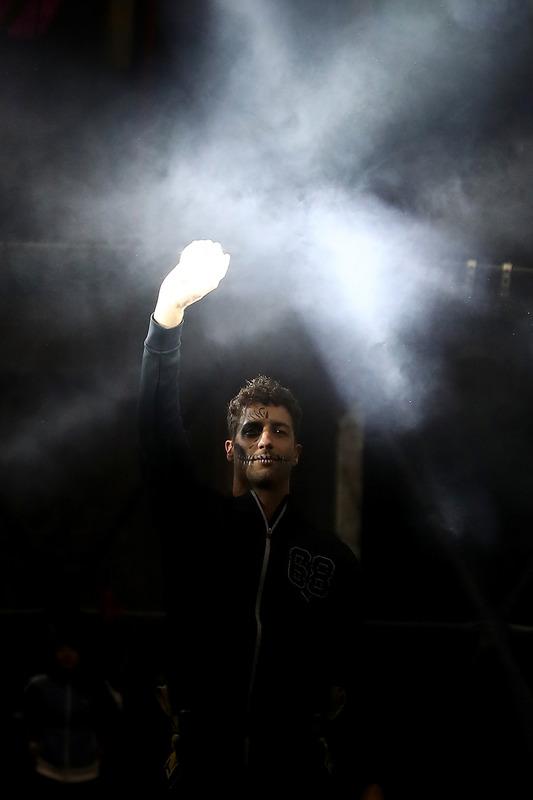 Daniel Ricciardo, Red Bull Racing met Puma aan de Ofrendomo in Mexico City voor evenement van Dia de
