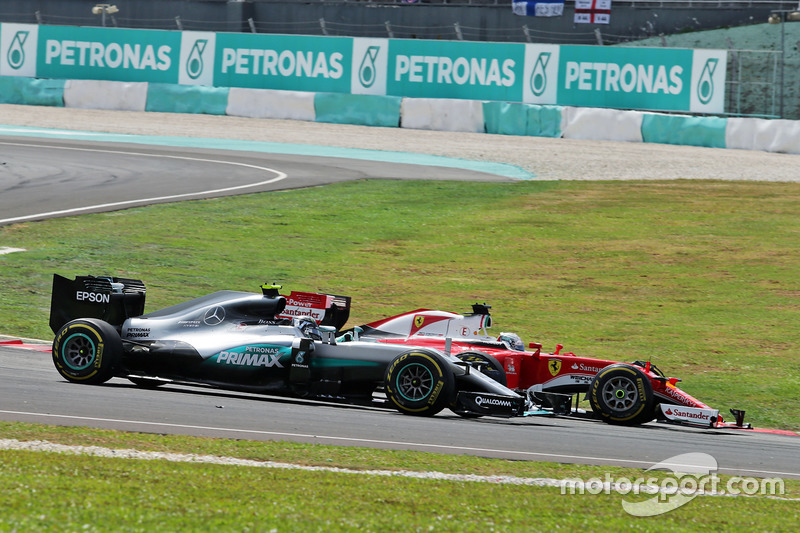 Incidente entre Vettel y Rosberg