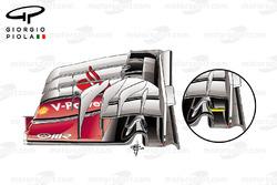 Ferrari SF16-H old vs new front wings, Japanese GP