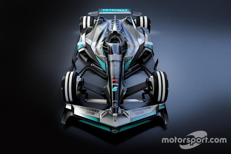 تصميمي تخيّلي لسيارة مرسيدس في 2030