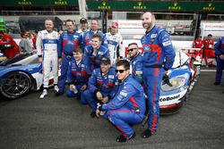 The team of the #67 Ford Chip Ganassi Racing Ford GT: Marino Franchitti, Andy Priaulx, Harry Tincknell