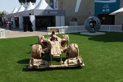 Houten F1-wagen