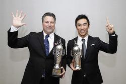 Michael Andretti and 2017 Indy 500 winner Takuma Sato