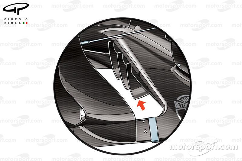 Force India VJM10 bargeboard detail, GP van Mexico