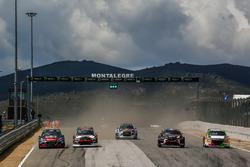 Race action, Sébastien Loeb, Team Peugeot Total, Niclas Gronholm, GRX Taneco, Andreas Bakkerud, EKS Audi Sport, Guerlain Chicherit, GC Competition, Gregoire Demoustier, Sebastien Loeb Racing