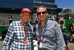 Niki Lauda, Mercedes AMG F1 Non-Executive Chairman and Alejandro Soberon, President and CEO for CIE