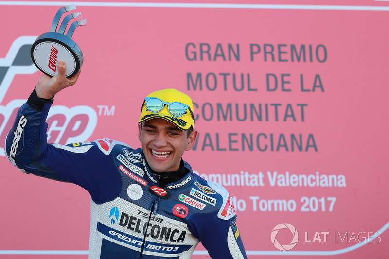 Podio: Ganador de la carrera Jorge Martin, Del Conca Gresini Racing Moto3