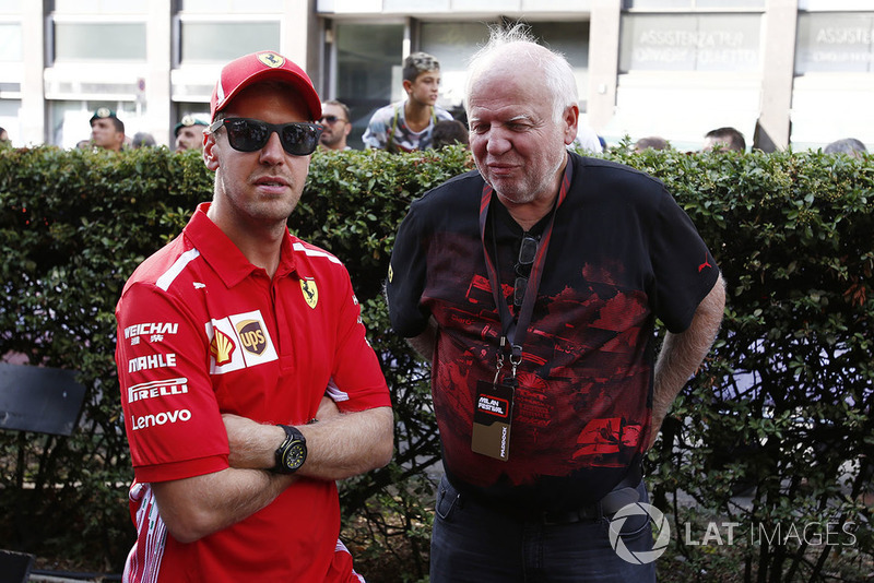 Sebastian Vettel et son père Norbert Vettel