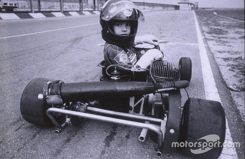 Christian iniciou no kart com dez anos...