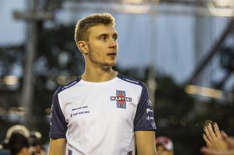 Sergey Sirotkin, Williams Racing on the drivers parade