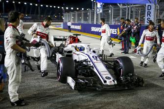 Marcus Ericsson, Sauber C37 sur la grille