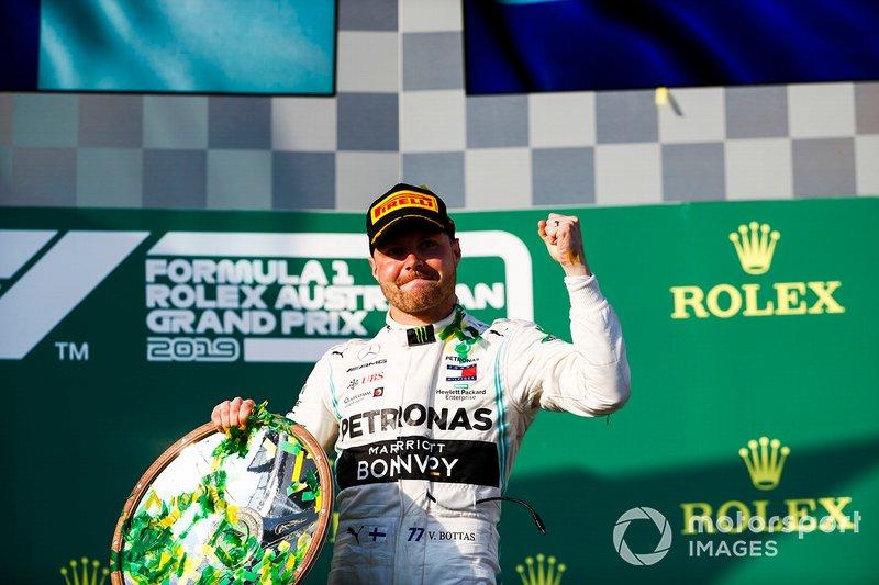 Valtteri Bottas, Mercedes AMG F1, merayakan kemenangan