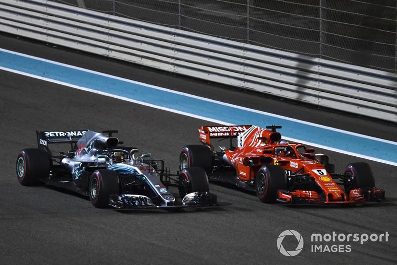 Льюіс Хемілтон, Mercedes AMG F1 W09, Себастьян Феттель, Ferrari SF71H