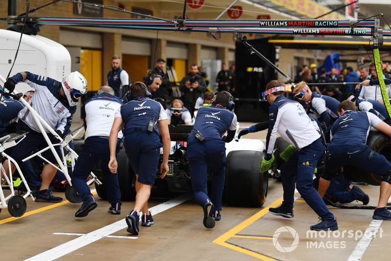 Williams Racing тренує піт-стопи