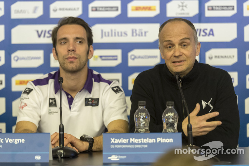 Jean-Eric Vergne, DS Virgin Racing and Xavier Mestelan Pinon, DS Performance Director