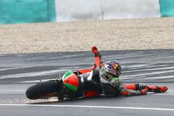 Stefan Bradl, Aprilia Gresini Racing Team crash