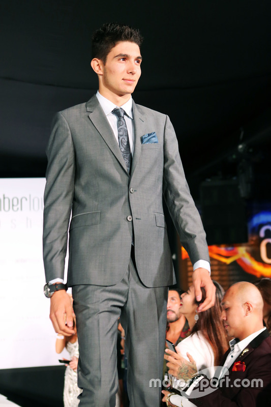 Esteban Ocon, Manor Racing at the Amber Lounge Fashion Show.