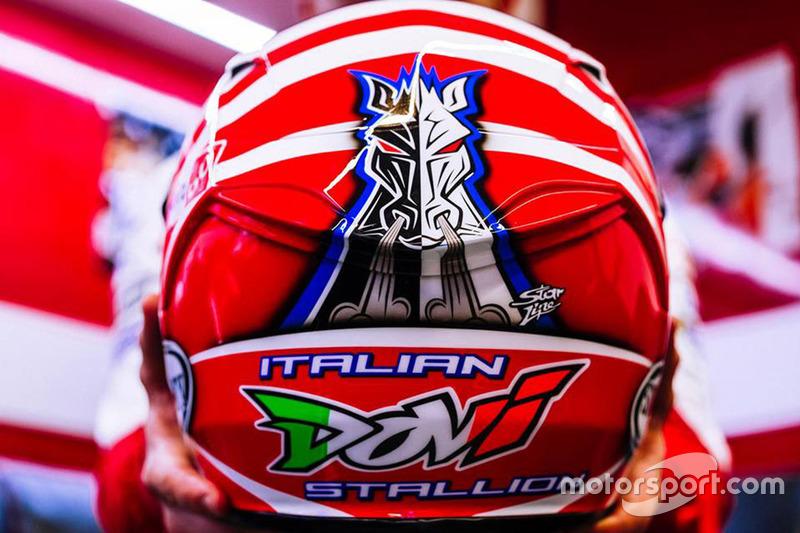 Neuer Helm von Andrea Dovizioso, Ducati Team