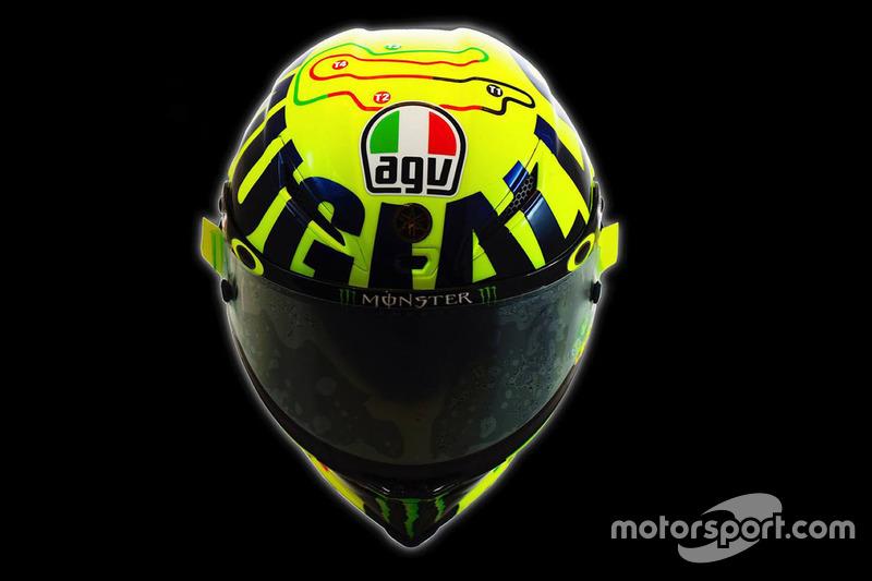 Nuevo casco de Valentino Rossi, Yamaha Factory Racing