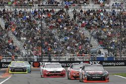 Kyle Busch, Joe Gibbs Racing Toyota, Joey Logano, Team Penske Ford, Brad Keselowski, Team Penske Ford, Paul Menard, Richard Childress Racing Chevrolet