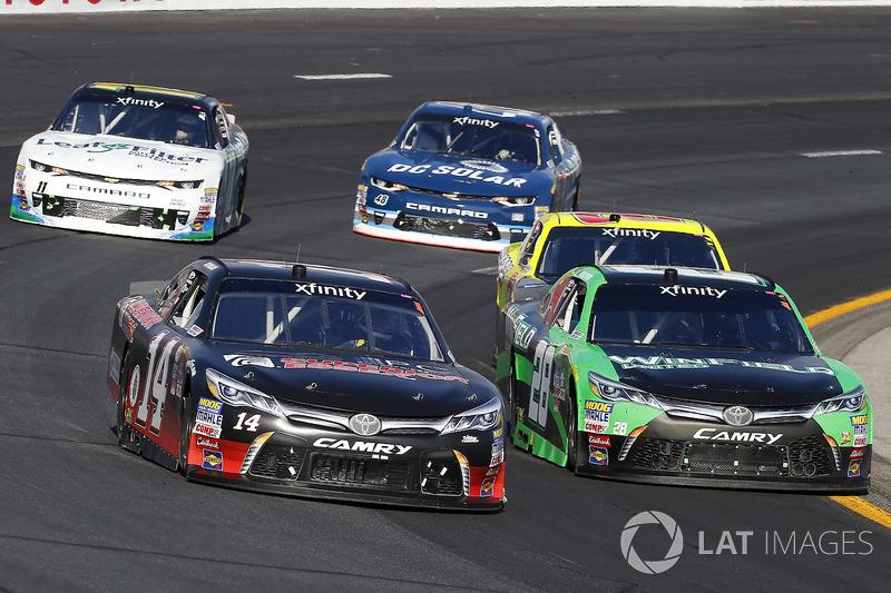 J.J. Yeley, TriStar Motorsports Toyota and Dakoda Armstrong, JGL Racing Toyota