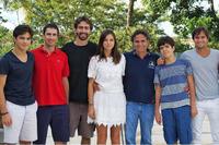 Pedro, Geraldo, Laszlo, Kelly, Nelson Piquet, Marco e Nelsinho