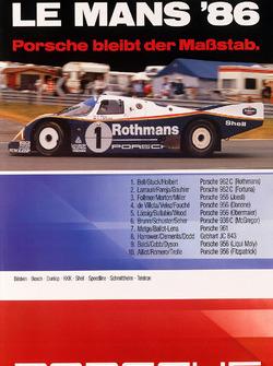 Poster: Porsche-Sieg bei den 24h Le Mans 1986