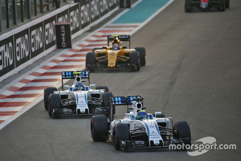 Felipe Massa, Williams FW38 y Valtteri Bottas, Williams FW38